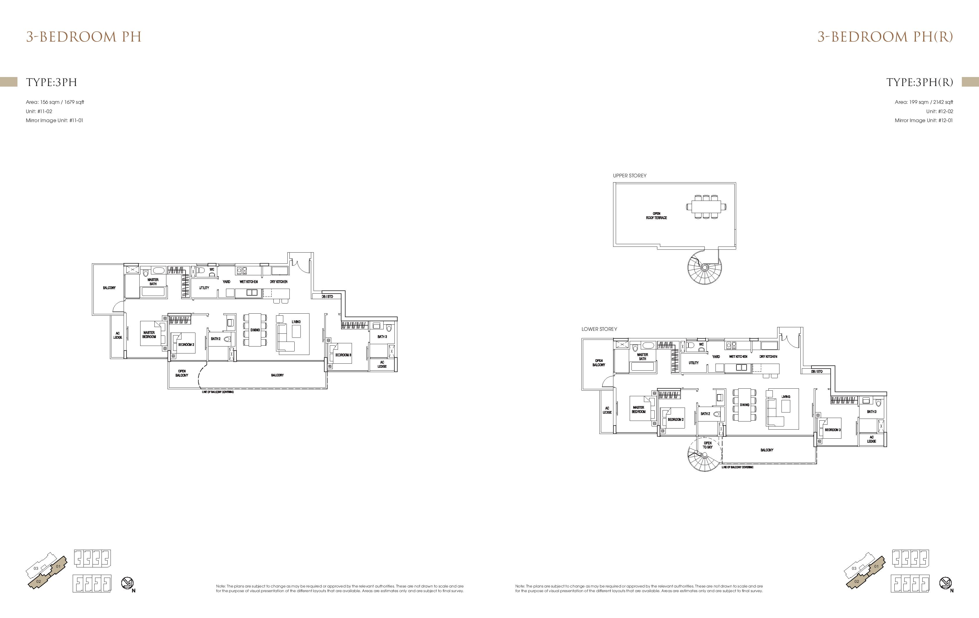 Goodwood Grand 3 Bedroom Penthouse Floor Plans