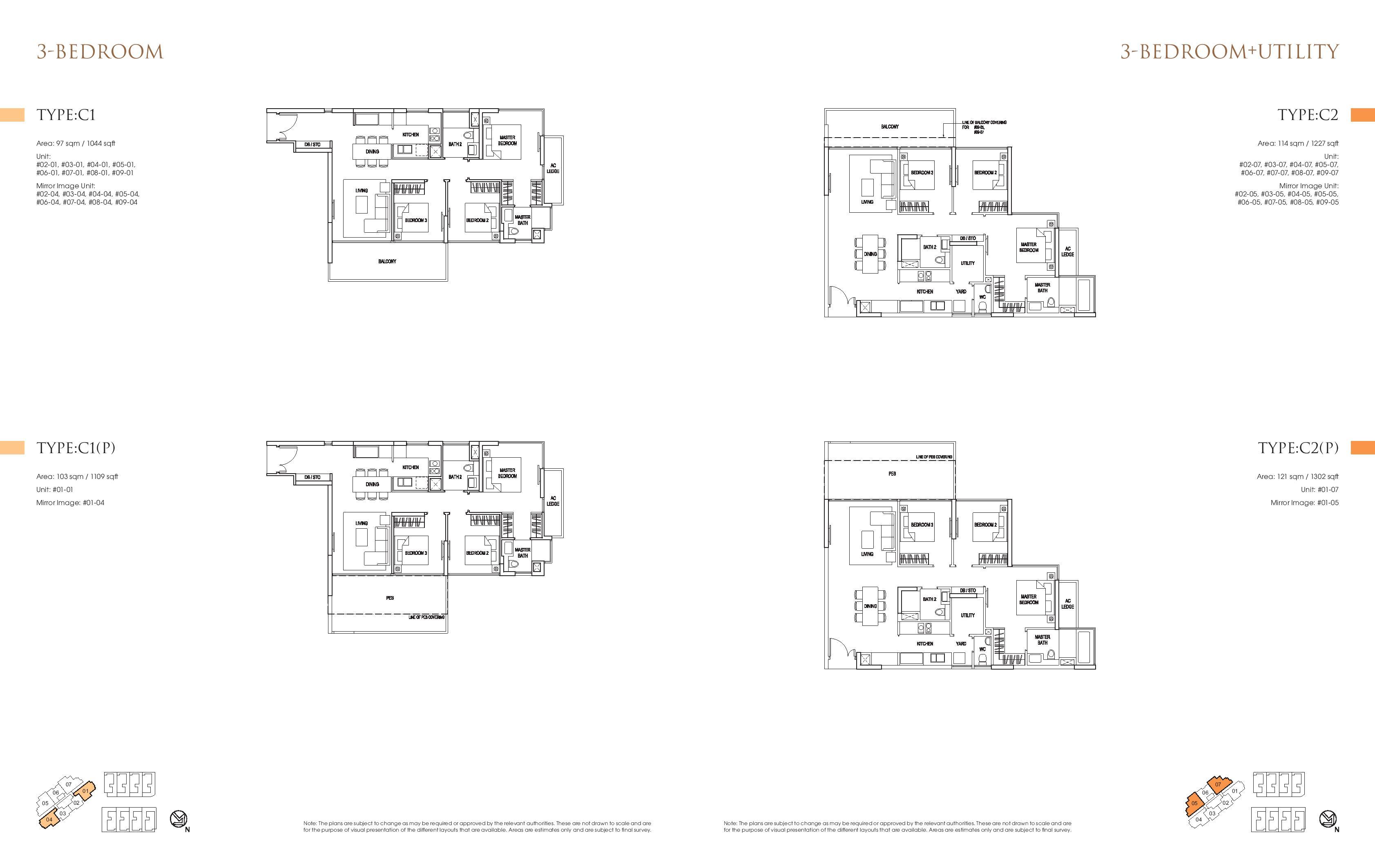 Goodwood Grand 3 Bedroom + Utility Floor Plans