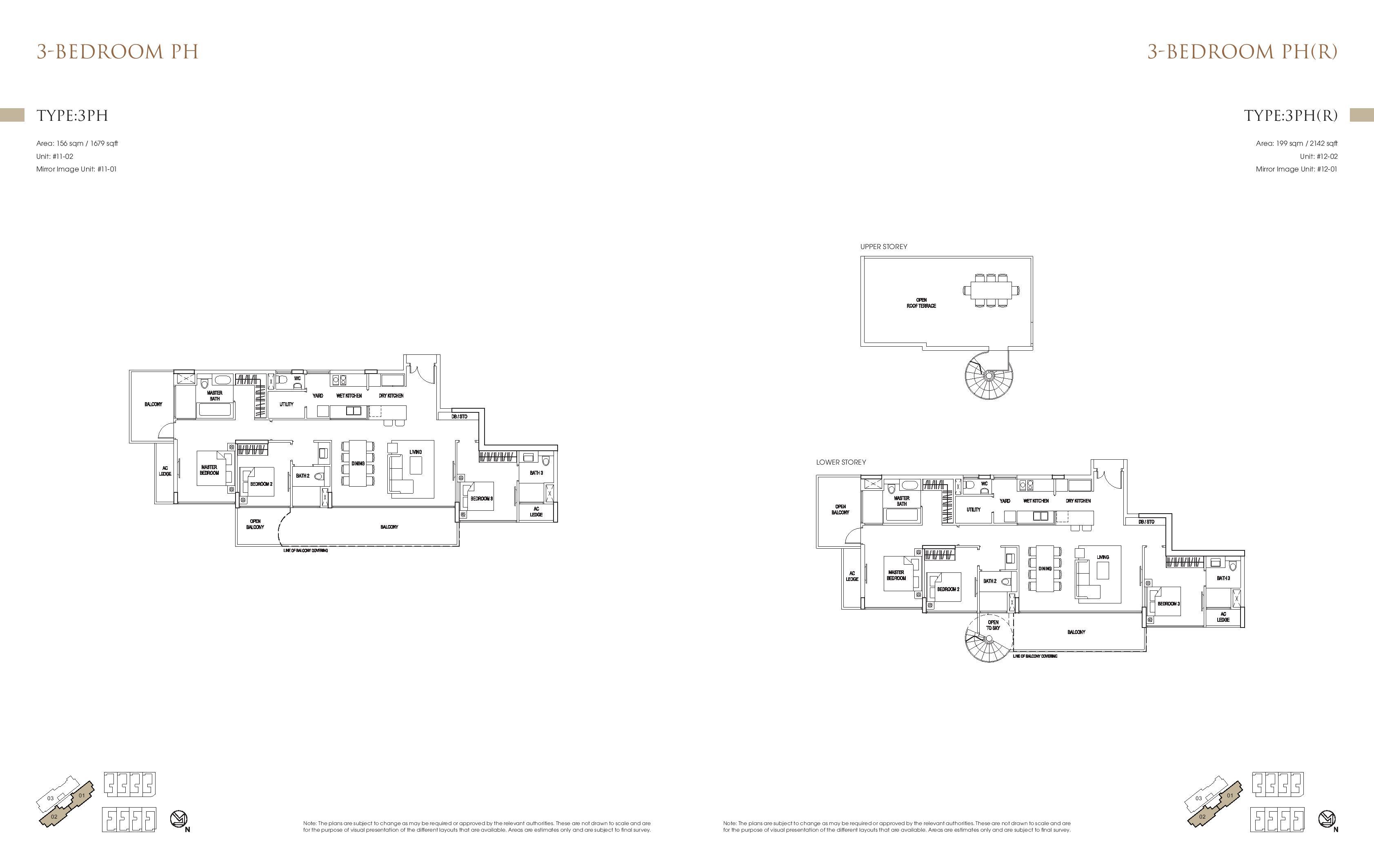 Goodwood Grand 3 Bedroom Penthouse Floor Plans