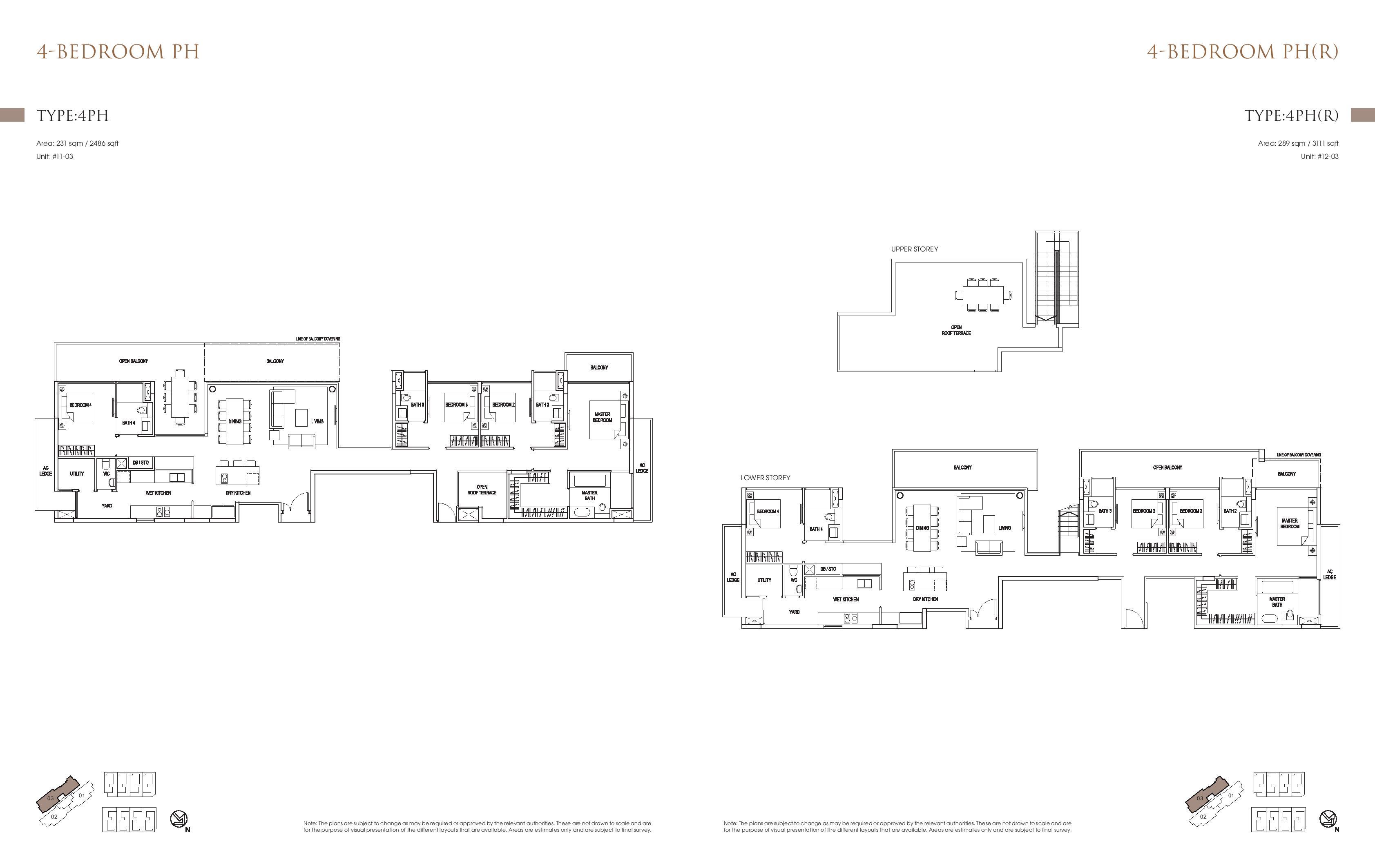 Goodwood Grand 4 Bedroom Penthouse Floor Plans